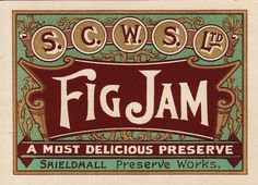 Free Flavour » Fig Jam Label