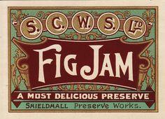 Free Flavour » Fig Jam Label