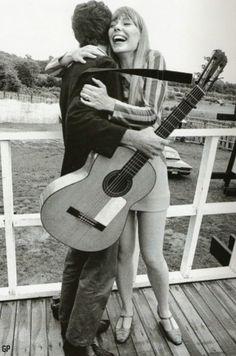 Joni Mitchell and Leonard Cohen, 1967.