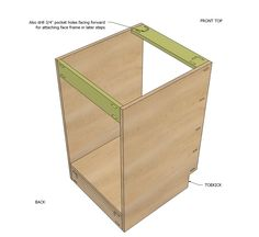 """Ana White   Build a 21"""" Base Cabinet Door/Drawer Combo (Momplex White Kitchen)   Free and Easy DIY Project and Furniture Plans"""