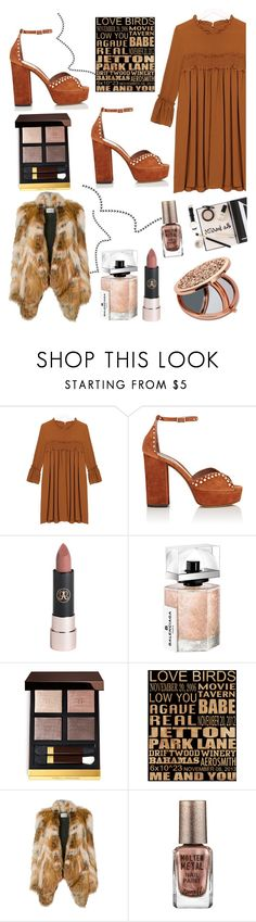 """Everyone else but me"" by felicitysparks ❤ liked on Polyvore featuring Tabitha Simmons, Anastasia Beverly Hills, Balenciaga, Prada, Yves Salomon, Barry M and Miss Selfridge"
