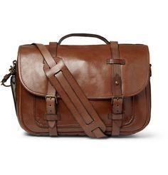 Polo Ralph Lauren Leather Messenger Bag       MR PORTER