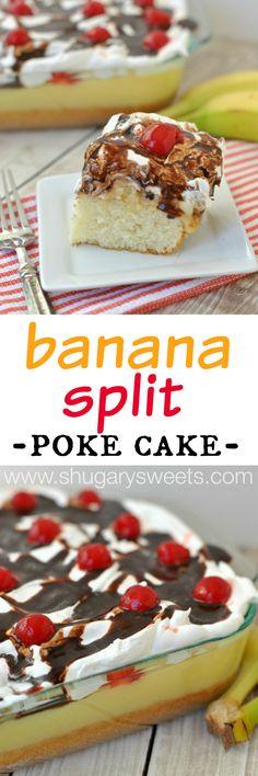 Banana Split Poke Cake: delicious summer treat for your next bbq!