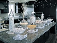White party candy buffet