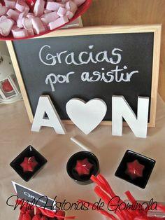 #pandoranovia #pandorard Candy Bar, mesa chuches, rojo-negro, boda
