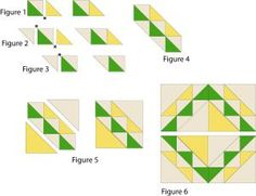 Corn and Beans Quilt Block Pattern - Janet Wickell