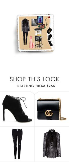 """Cine-night"" by rhaxkido ❤ liked on Polyvore featuring Yves Saint Laurent, Gucci, Frame Denim, Philosophy di Lorenzo Serafini and Benefit"