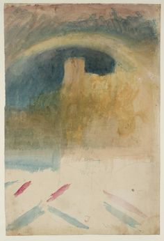 Joseph Mallord William Turner, 'Durham Cathedral with a Rainbow' c.1817