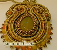 Spark Soutache Necklace Made in Italy Jewelry от AmarantaBeads, €115.00