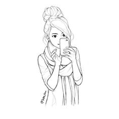 """xD and it's slowly going away after…"""" Girl Drawing Sketches, Art Drawings Sketches Simple, Anime Girl Drawings, Girly Drawings, Cartoon Girl Drawing, Pencil Art Drawings, Cartoon Drawings, Hiba Tan, Selfie"""