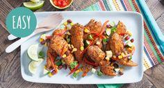 Never underestimate the power of spice! We love this simple Sweet Corn & Cajun Chicken dish. My Recipes, Chicken Recipes, Dinner Recipes, Moroccan Lamb Tagine, Chicken Tenderloins, Sweet Corn, Winter Food, How To Cook Chicken, Tandoori Chicken