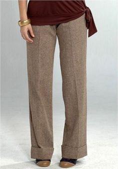 Womens Lauren Kiyomi Tweed Trousers (Maternity)