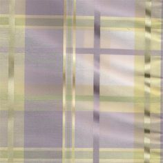Cologne in Orchid Hush-Pastel plaid lavender purples, pale green & yellow with creamy white and pinstripe of gold for custom draperies, tier curtains, bedding, valances and fabric by the yard