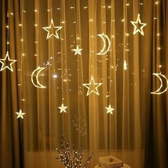 Star Moon Lamp LED lamp String Ins Christmas lights decoration curtain Lights - Moon Light Lamp - Ideas of Moon Light Lamp Moon Light Lamp, Moon Lights, Led String Lights, Light String, Led Party Lights, String Curtains, Star Lamp, Teen Bedroom Designs, Home Decor Ideas