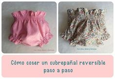 Yarns, wool and buttons: DIY how a reversible diaper cover sewing step Sewing Baby Clothes, Baby Clothes Patterns, Baby Sewing Projects, Sewing For Kids, Toddler Outfits, Kids Outfits, Cheap Kids Clothes Online, Vintage Thrift Stores, Baby Knitting