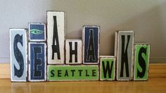 #Seattle #Seahawks blocks Check out this item in my Etsy shop https://www.etsy.com/listing/243469017/seahawks-blocks