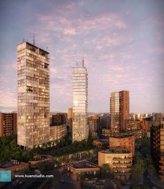 Le Grand Parc Towers on Behance Design Guidelines, 3d Visualization, Concrete Jungle, Modern Buildings, Willis Tower, Seattle Skyline, San Francisco Skyline, Facade, Real Estate