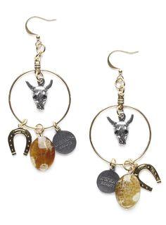 Western Good Luck Earrings.