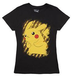 327e4db6 Pokemon Pikachu Juniors Womens T-shirt (Black, Small) – Pokemon Tshirt &  Dress for Women