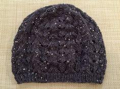 ラメ糸の帽子