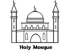 30 Gambar Masjid Terbaik Gambar Mesjid Buku Mewarnai