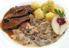 Diviak na šípkovej omáčke - Recept pre každého kuchára, množstvo receptov pre pečenie a varenie. Recepty pre chutný život. Slovenské jedlá a medzinárodná kuchyňa