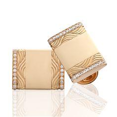 Gold and Diamond Cufflinks - Faberge Vladimir Cufflinks