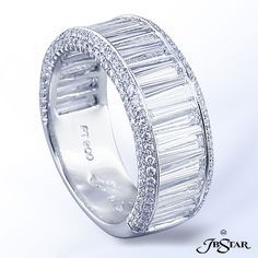 Platinum Diamond Band Diamonds: 2.82 ct. tw. (Baguette, & Round) By JB Star.