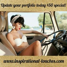 📷Are you an aspiring model and looking to update your portfolio??📷 🚨Then look no further....I am running an on location $50 special that includes the full digital album as well as 25 edited photos!🚨 Check out my work on my website and schedule your session today!!!   Www.inspirational-touches.com or call 727.999.0609 or private message me