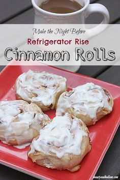 These will be the easiest Homemade Cinnamon Roll Recipe you will try. Whip up these amazing rolls the night before and let them rise and do all the work while you sleep. Perfection! #recipes