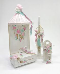 Vintage σετ βάπτισης για κοριτσάκι με θέμα ονειροπαγίδα, annassecret, Χειροποιητες μπομπονιερες γαμου, Χειροποιητες μπομπονιερες βαπτισης
