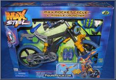 MX4 Rocket Cycle  from Max Steel manufactured by Mattel [Front]