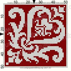 ru / Фото - Le Filet Ancien I - gabbach Funny Cross Stitch Patterns, Cross Patterns, Cross Stitch Designs, Embroidery Patterns, Crochet Patterns, Crochet Cross, Thread Crochet, Filet Crochet, Cross Stitching