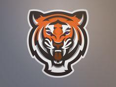Tiger by Adam Eargle Art Tigre, Sports Decals, Sports Logos, Beast Logo, Logo Animal, 2048x1152 Wallpapers, Tiger Illustration, Tiger Logo, Tiger Art
