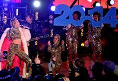 Miley Cyrus al concetto di Capodanno a Times Square