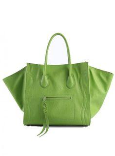 Green Fashion Satchels Bag With Tassel$45.00