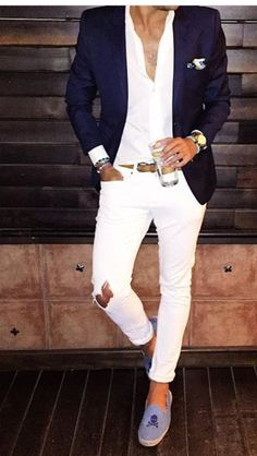 👍 Smart Casual Wear, Casual Wear For Men, Blazer Outfits Men, Blazer Fashion, Mens Fashion 2018, Mens Fashion Suits, Formal Men Outfit, Look 2015, Style Masculin