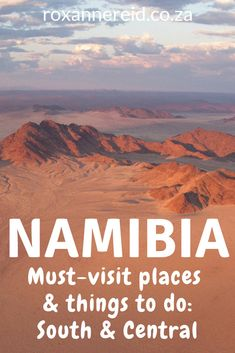 Places to visit and things to do in Namibia : south and central - Roxanne Reid Kenya Travel, Africa Travel, Africa Destinations, Travel Destinations, Stuff To Do, Things To Do, Desert Tour, Namib Desert, Desert Life
