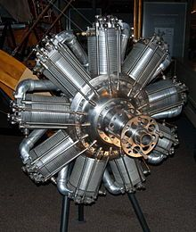 During the first world war, he had chance to develop his ideas, firstly on existing engines such as the French Clerget then on his own design of rotary engine as seen here.