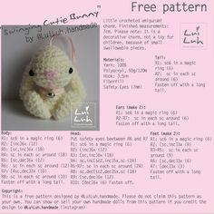 Amigurumi bunny - free crochet pattern
