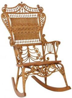 How did this Victorian wicker rocker survive in this good of shape?!