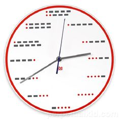Morse Code Wall Clock by Decor Craft Inc A great gift idea for the Puzzler in your life. You can test your coding skills with a different set of dots & dashes for each hour of the day. A novel way to