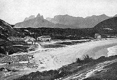 Rio de Janeiro Antigo: O cabo submarino de telégrafo na praia de Copacaba...