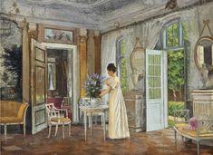 Adolf Heinrich Claus Hansen,  Arranging Summer Blooms, 1899