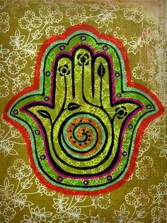 Hamsa or hand of Miriam. A universal sign of protection, derived from Near East… Hamsa Design, Art Design, Mahatma Gandhi, Yin Yang, Hamsa Art, Pop Art, Religious Symbols, Hand Symbols, Before Midnight