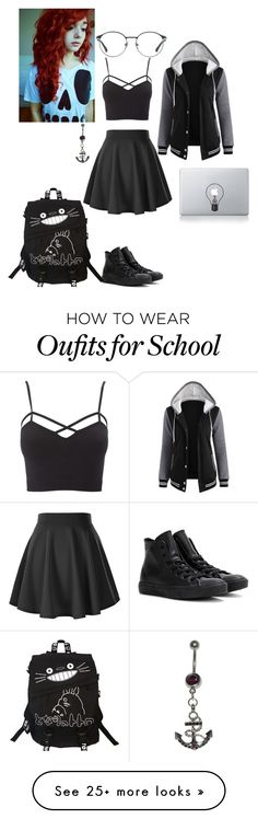 """""""I have so much homework tomorrow that i have to get done tonight."""" by thissillykitty on Polyvore featuring Charlotte Russe, Beautiful People, Vinyl Revolution, Converse, 3.1 Phillip Lim and plus size clothing"""