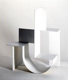 Grafika zastępcza dla video Folding Architecture, Concept Models Architecture, Architecture Model Making, Architecture Design, Module Design, Exposition Photo, Sculptures Céramiques, Constructivism, Shelf Design