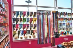 Our beautiful leash and collar display!