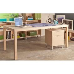 Urbangreen Parsons Dining Table Wood Veneer: Walnut, Finish: Bleached