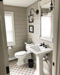 Home Renovation Rustic Bathroom Designs Bathroom Vanity, Bathroom Interior, Small Bathroom, Bathrooms Remodel, Rustic Bathroom, Home Remodeling, Bathroom Decor, Bathroom Design, Traditional Bathroom